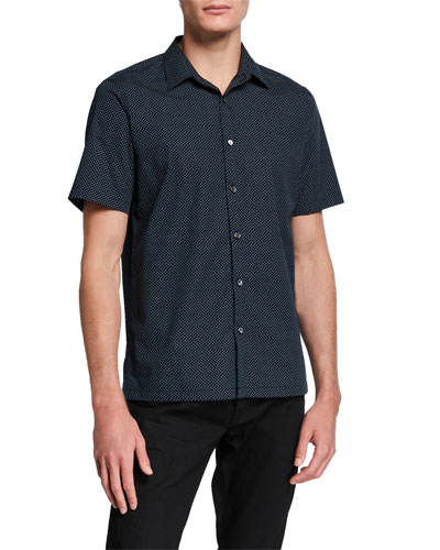 Men's Irving High Dye Short-Sleeve Sport Shirt