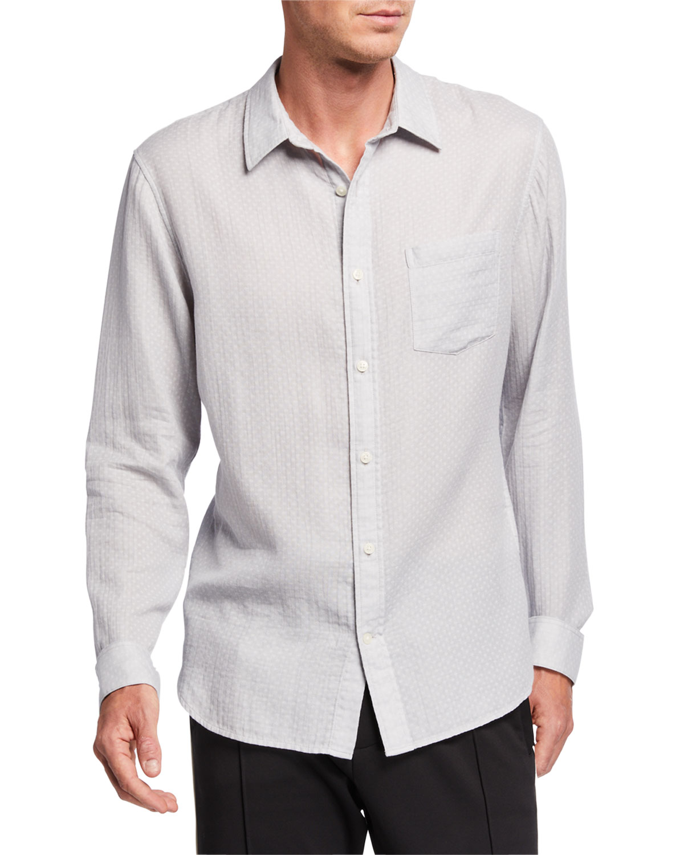 Vince T-shirts MEN'S DOBBY DOUBLE-FACE SPORT SHIRT