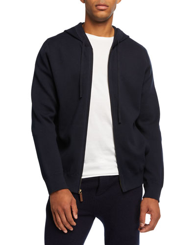 Men's Cotton Zip-Front Hoodie
