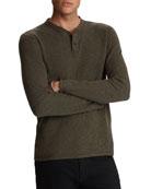 John Varvatos Star USA Men's Wilmington Long-Sleeve Jacquard
