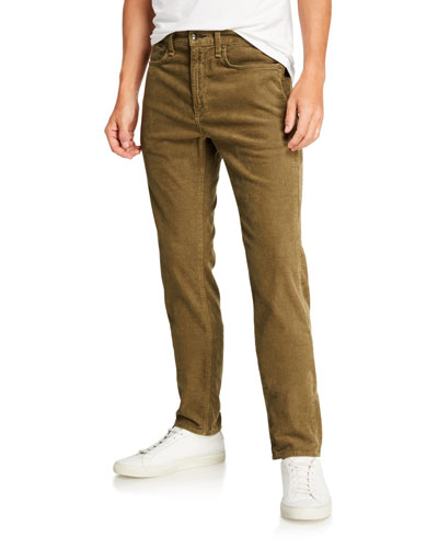 Men's Standard Issue Fit 2 Mid-Rise Relaxed Slim-Fit Corduroy Jeans, Army