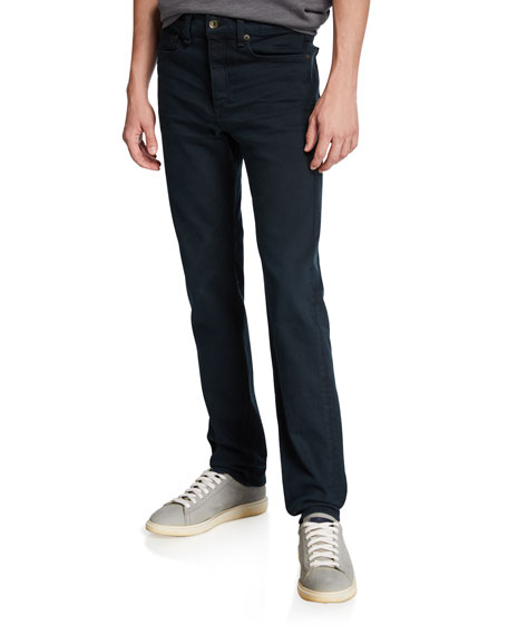 Rag & Bone Men's Standard Issue Fit 2 Mid-Rise Relaxed Slim-Fit Jeans, Dark Wash