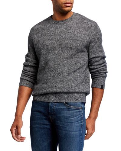 Men's Haldon Crewneck Marled Cashmere Sweater
