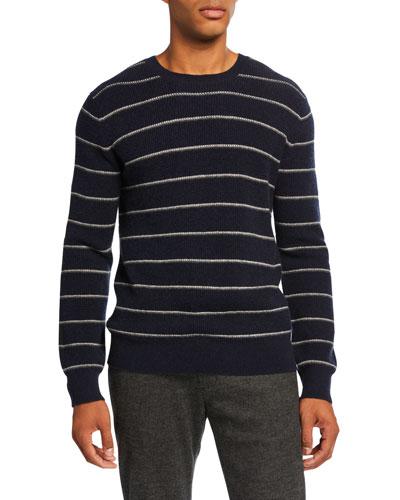 Men's Crewneck Long-Sleeve Wool-Blend Sweater
