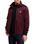 Scotch & Soda Men's Jacquard Logo Zip-Up Track