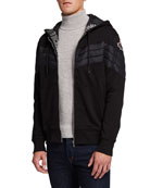 Moose Knuckles Men's Concordia French Terry Quilted Hoodie