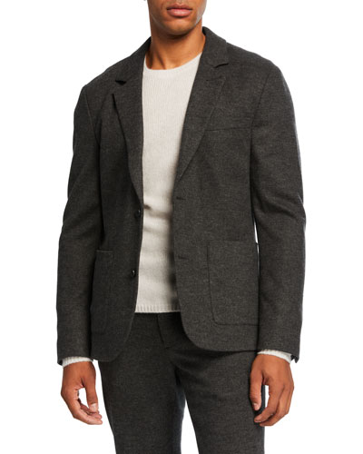 Men's Cozy Wool Two-Button Jacket