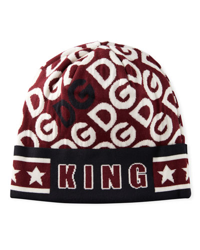 Men's DG Logo Mania King Wool Beanie Hat