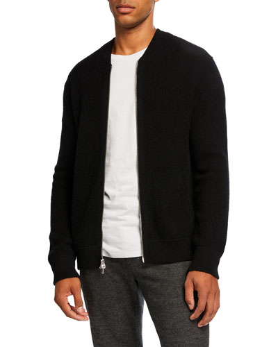 Men's Thermal Zip-Front Sweater