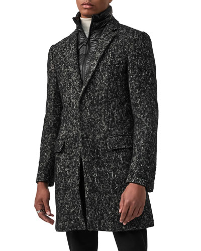Men's Skai Tweed Wool-Blend Top Coat