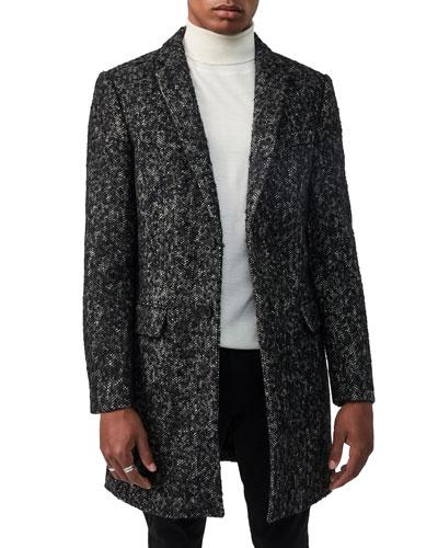 Men's Skai Tweed Wool-Blend Top Coat