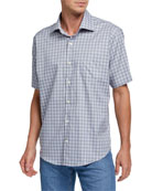 Peter Millar Men's Check Short-Sleeve Sport Shirt