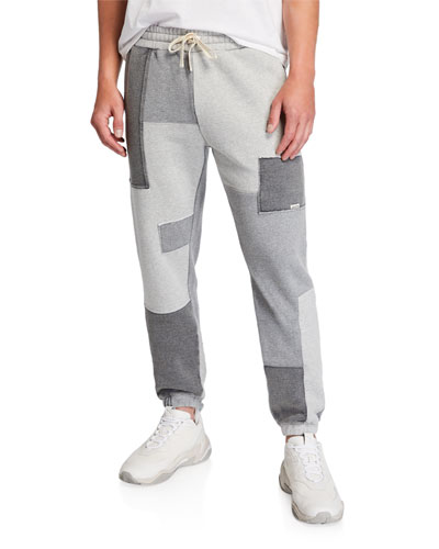Men's Dune Patchwork-Knit Sweatpants