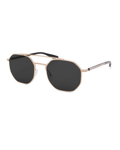 Barton Perreira Men's Metis Metal Octagonal Sunglasses