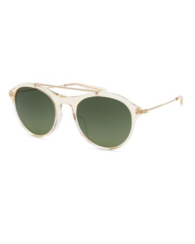 Men's Vanguard Transparent Acetate & Metal Sunglasses