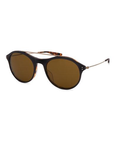 Men's Vanguard Round Metal Sunglasses