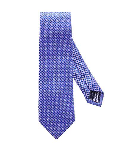 Micro-Circle Silk Tie, Purple