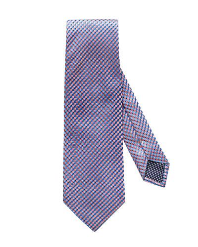 f7aeeae315af Quick Look. Eton · Micro Circle Silk Tie, Pink/Blue