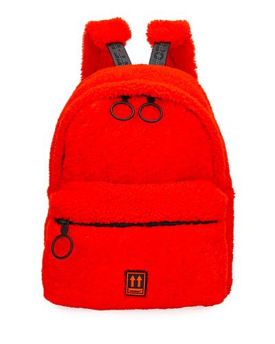 Men's Lamb-Shearling Mini Backpack