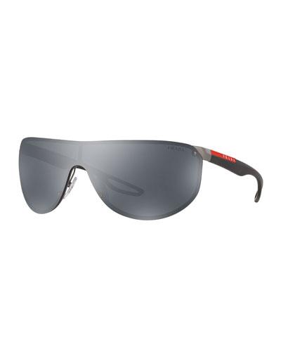 Men's Metal Shield Sunglasses