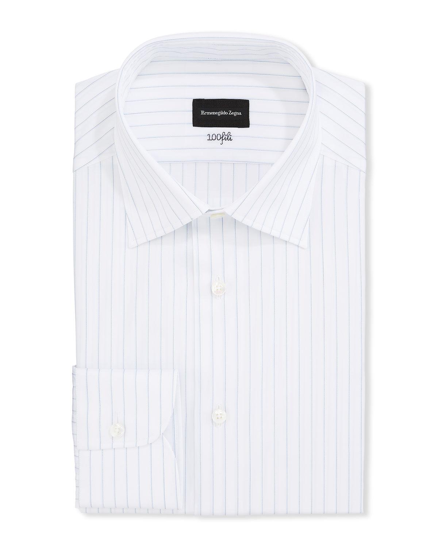 Men's Striped 100Fili Cotton Regular-Fit Dress Shirt