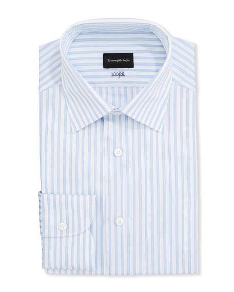 Ermenegildo Zegna Men's Bengal-Stripe Regular-Fit Dress Shirt