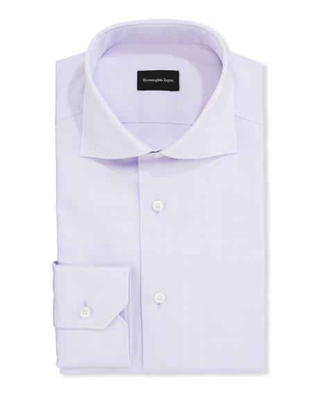 Ermenegildo Zegna Men's Solid Oxford Trim-Fit Dress Shirt