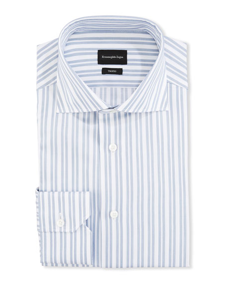 Ermenegildo Zegna Men's Trofeo Double-Stripe Trim-Fit Dress Shirt