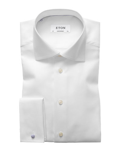 Men's Contemporary-Fit French-Cuff Dress Shirt
