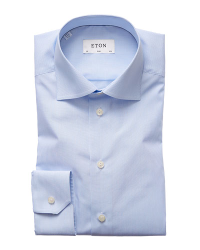 Men's Slim-Fit Striped Dress Shirt
