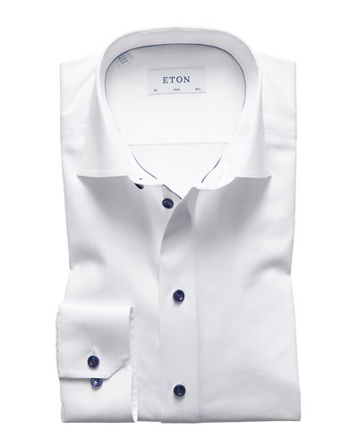 Men's Slim-Fit Poplin Dress Shirt