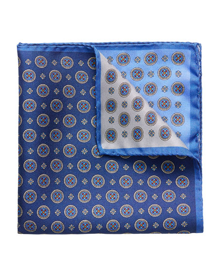 Eton Men's Four-in-One Silk Pocket Square