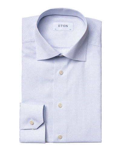 Men's Contemporary-Fit Micro-Print Dress Shirt