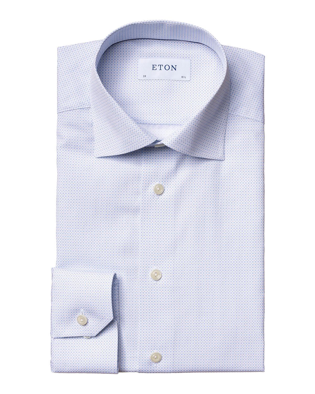 Men's Contemporary-Fit Micro-Print Dress Shirt