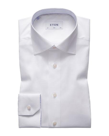 Eton Men's Slim-Fit Dress Shirt with Micro-Print Details