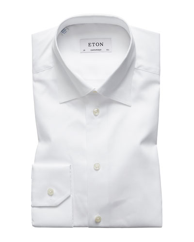 Men's Contemporary-Fit Poplin Dress Shirt