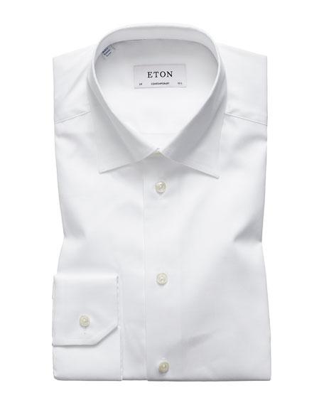 Eton Men's Contemporary-Fit Poplin Dress Shirt