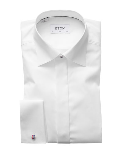Men's Slim-Fit Poplin Formal Shirt