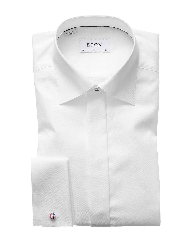 Men's Slim-Fit Poplin Formal Shirt