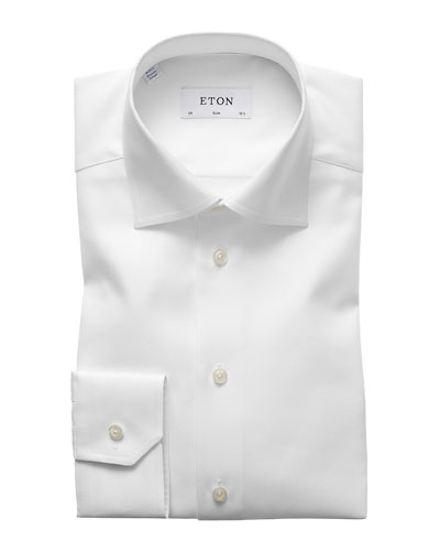 Men's Slim Fit Cavalry Twill Dress Shirt