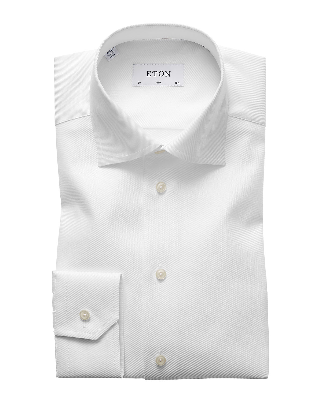 Men's Slim Fit Cavalry Twill Dress Shirt