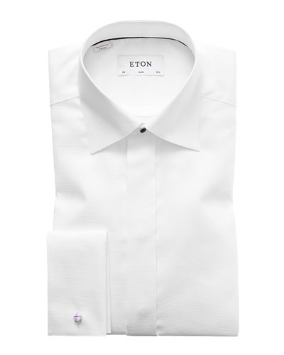 Men's Slim-Fit Diamond Dress Shirt