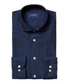 Eton Men's Contemporary-Fit Soft Cotton/Silk Dress Shirt