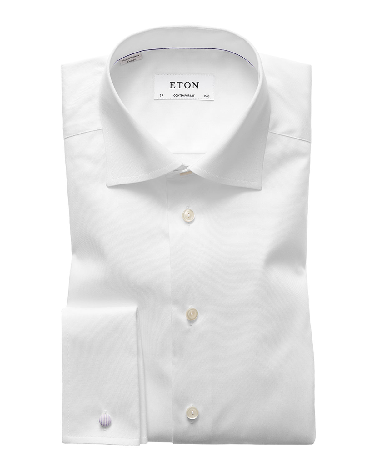Men's Contemporary-Fit French-Cuff Twill Dress Shirt