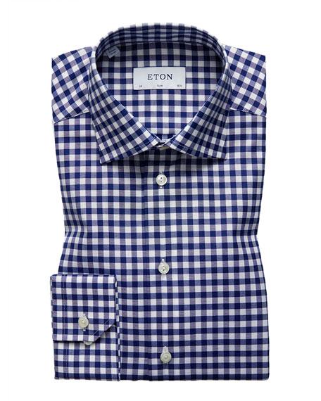 Eton Men's Slim-Fit Gingham Dress Shirt