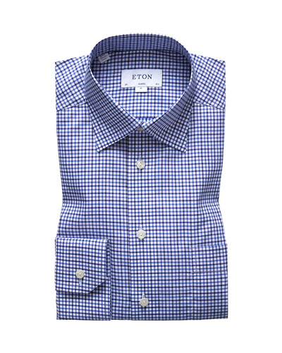 Men's Classic-Fit Tattersall Dress Shirt