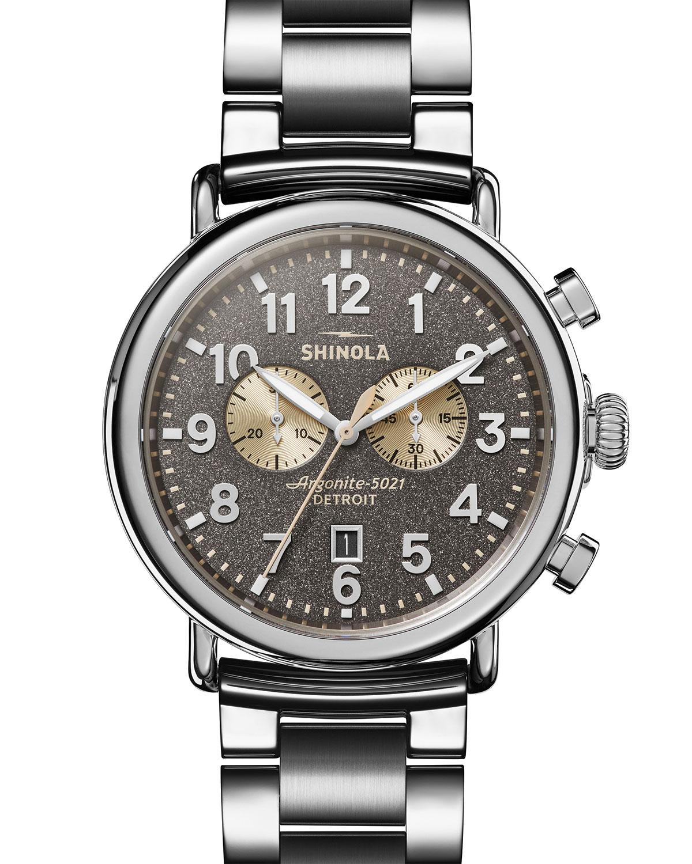 Men's 47mm Runwell Chronograph Bracelet Watch