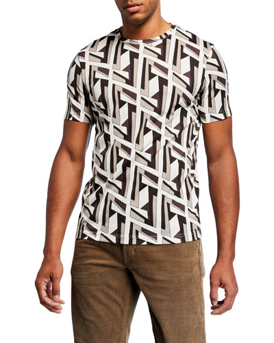 Men's Futuristic FF Logo-Print T-Shirt