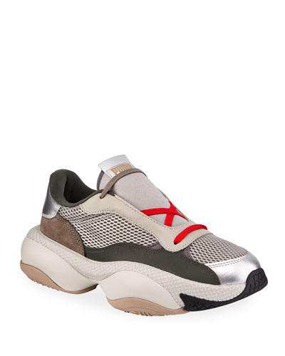 Men's Alteration PN2 Chunky Mesh & Leather Trainer Sneakers