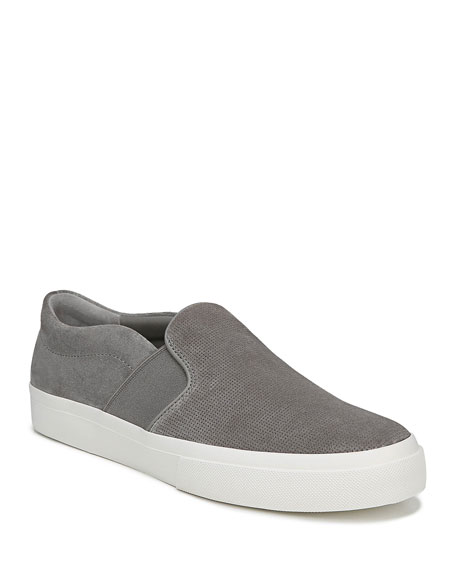 Vince Men's Fenton Perforated Suede Slip-On Sneakers